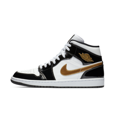 Air Jordan 1 Mid 'Black/Gold' productafbeelding