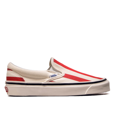 Damen Sneaker Classic Slip on 9 White Red productafbeelding