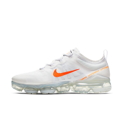 Nike Air Vapormax 2019 (White / Total Orange - Cool Grey) productafbeelding