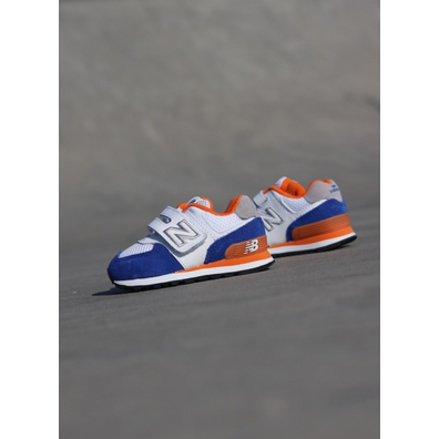 New Balance 574 White/Blue TS productafbeelding