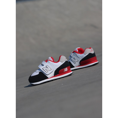 New Balance 574 White/Black/Red TS productafbeelding