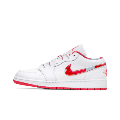 "Air Jordan 1 Low (GS) ""White"" productafbeelding"