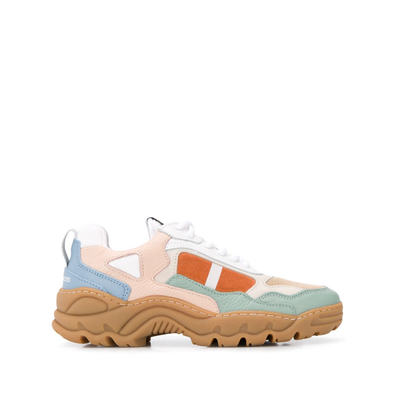 Filling Pieces chunky low top trainers - Nude productafbeelding