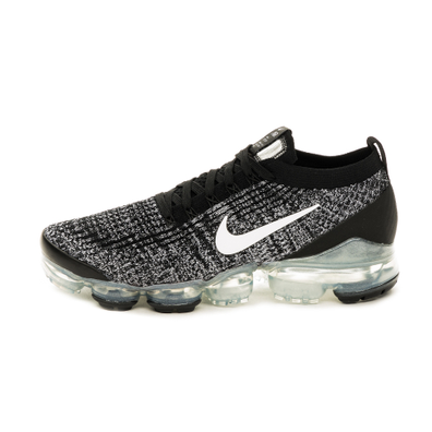 Nike Air Vapormax Flyknit 3 (Black / White - Metallic Silver) productafbeelding