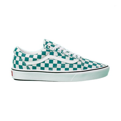 Vans ComfyCush Old Skool (Checker) Quetzal/ True White productafbeelding