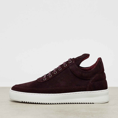 Filling Pieces Low Top Ripple Waxed Suede ox blood productafbeelding