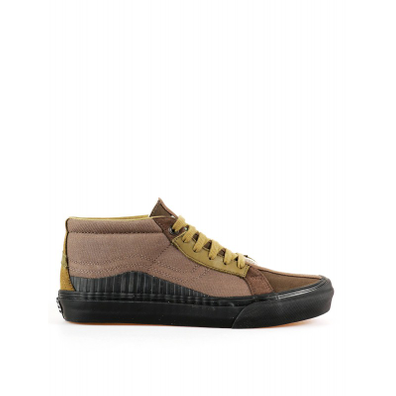 Vans x Taka Hayashi 138 Mid LX (Suede/ Canvas/ Leather) Mid Brown productafbeelding