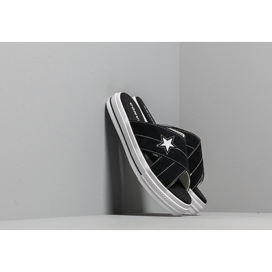 Converse One Star Sandal Black/ Egret/ White productafbeelding