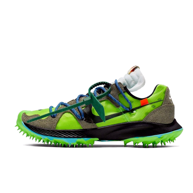 Off White X Nike WMNS Zoom Terra Kiger 5 'Electric Green' productafbeelding