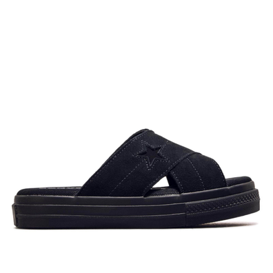 Damen Slide One Star Black Black productafbeelding