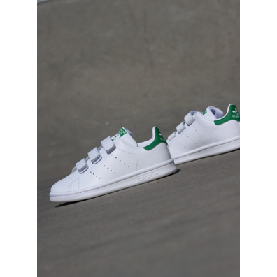 Adidas Stan Smith O.G White/Green Velcro PS productafbeelding