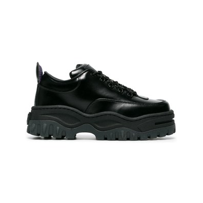 Eytys Black Angel Lift Leather Platform Sneakers - Zwart productafbeelding