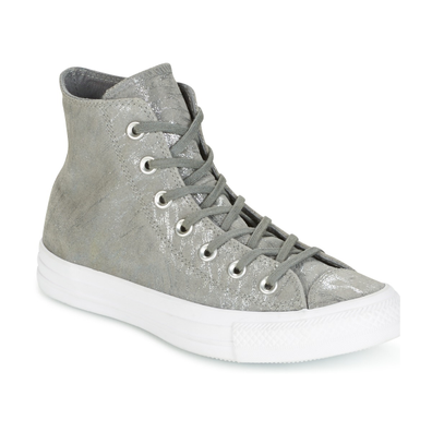 Converse CHUCK TAYLOR ALL STAR SHIMMER SUEDE HI MASON/MASON/WHITE productafbeelding