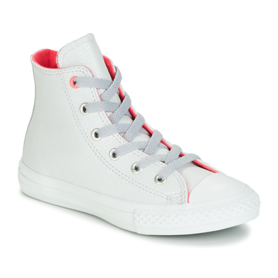Converse CHUCK TAYLOR ALL STAR FASHION LEATHER HI PURE PLATNUM/WOLF GREY/ productafbeelding