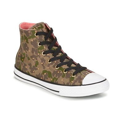 Converse Chuck Taylor All Star Hi Camo Gold Star productafbeelding