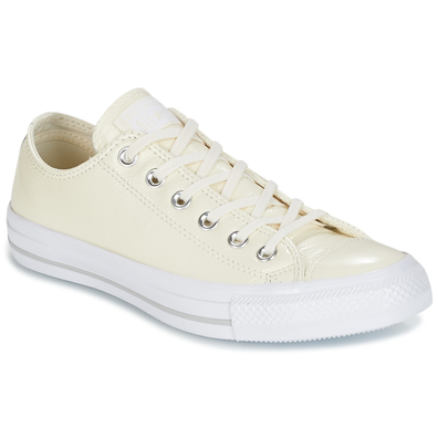 Converse CHUCK TAYLOR ALL STAR CRINKLED PATENT LEATHER OX EGRET/EGRET/WHI productafbeelding