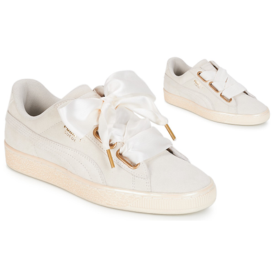 Puma WN SUEDE HEART SATIN.WHITE productafbeelding