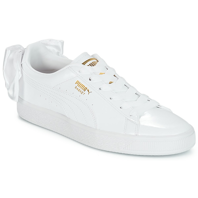 Puma WN SUEDE BOW PATENT.WHITE productafbeelding