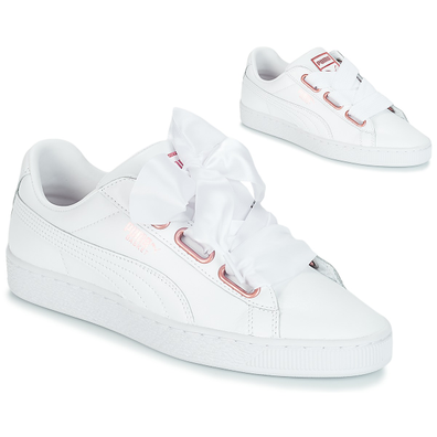 Puma WN SUEDE HEART LEATHER.WHI productafbeelding