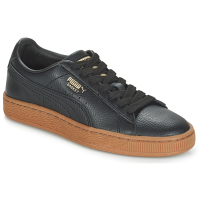 Puma JR BASKET CL GUM.BLK-GOLD productafbeelding