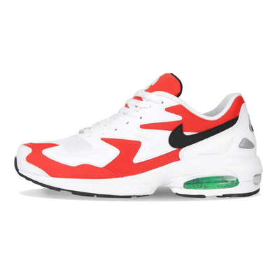 Nike Air Max2 Light White / Black / Habanero Red / Cool Grey productafbeelding