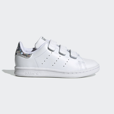 Adidas Stan Smith White/Metsil Velcro PS productafbeelding