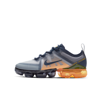 Nike Air Vapormax 2019 (GS) Midnight Navy/ Midnight Navy-Laser Orange productafbeelding