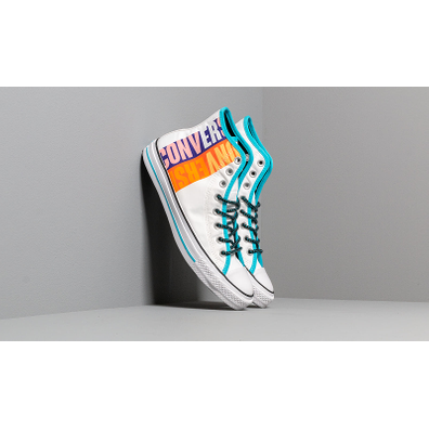 Converse Chuck Taylor All Star White/ Gnarly Blue/ White productafbeelding