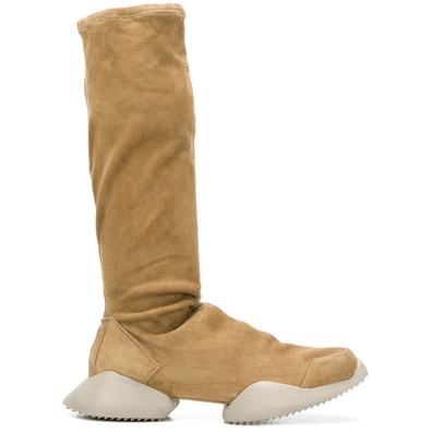Adidas By Rick Owens platform knee-length boots - Nude productafbeelding