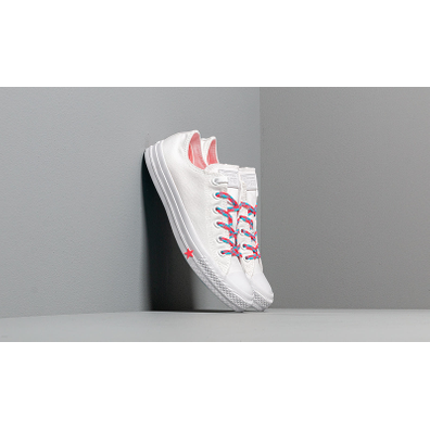 Converse Chuck Taylor All Star White/ Racer Pink/ Gnarly Blue productafbeelding