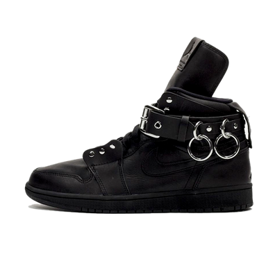 Comme Des Garcon X Air Jordan 1 High 'Black' productafbeelding