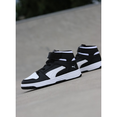 Puma Rebound lay-up Black/White PS productafbeelding