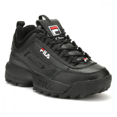 Fila Disruptor II Premium Black / White / Fila Red Trainers productafbeelding