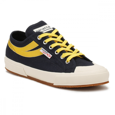 Superga Mens Navy / Sunflower 2750 Cotu Panatta Trainers productafbeelding