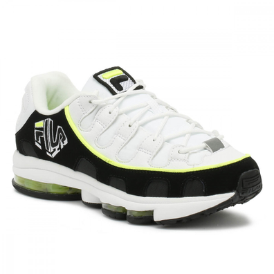 Fila Mens White / Black / Yellow Silva Trainers productafbeelding