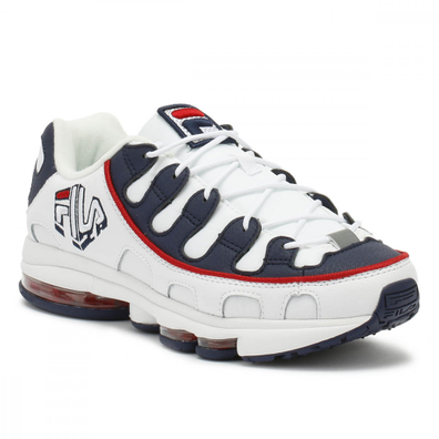 Fila Mens White / Navy / Red Silva Trainers productafbeelding