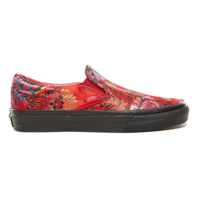 Vans Classic Slip on Festival Satin Womens Red Trainers productafbeelding
