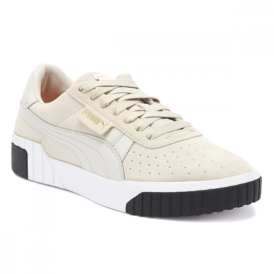 PUMA Cali Womens Silver Grey Suede Trainers productafbeelding