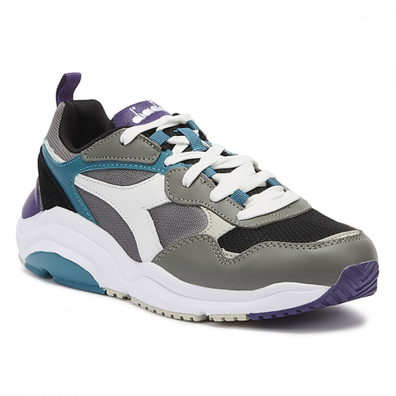 Diadora Whizz Run Mens Grey / Blue Trainers productafbeelding