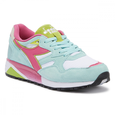 Diadora N9002 Mens Aruba Blue / White Trainers productafbeelding
