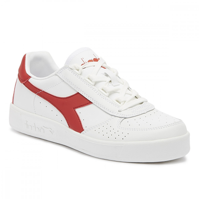 Diadora B. Elite Mens White / Red Trainers productafbeelding