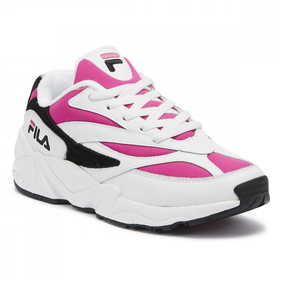 Fila Venom Womens White / Very Berry / Black Trainers productafbeelding