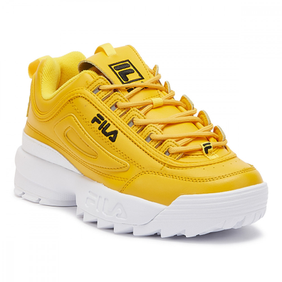 Fila Disruptor II Premium Womens Gold / Black Trainers productafbeelding