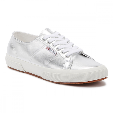 Superga 2750 Pumetu Womens Silver Trainers productafbeelding