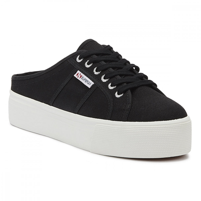 Superga 2284 Cotu Womens Black / White Trainers productafbeelding