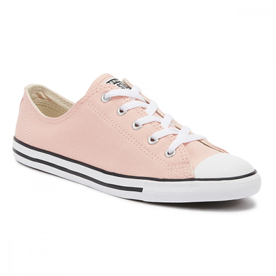 Converse Chuck Taylor All Star Dainty Womens Bleached Coral Ox Trainers productafbeelding