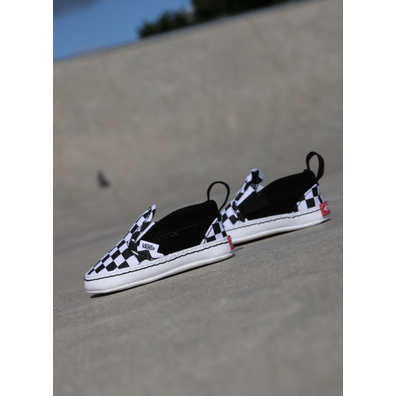Vans Kids Slip On V Crib Black White Che productafbeelding