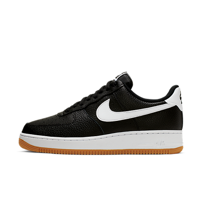 Nike Air Force 1 ' 07 Black White Wolf Grey Gum Med Brown productafbeelding