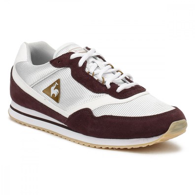 Le Coq Sportif Womens Fudge/ Old Brass Louise Suede Trainers productafbeelding
