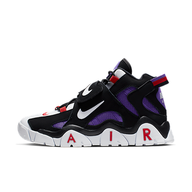 Nike Air Barrage Mid QS (Black / White - Hyper Grape - University Red) productafbeelding